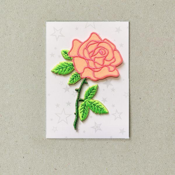 Iron On Patch - Rose