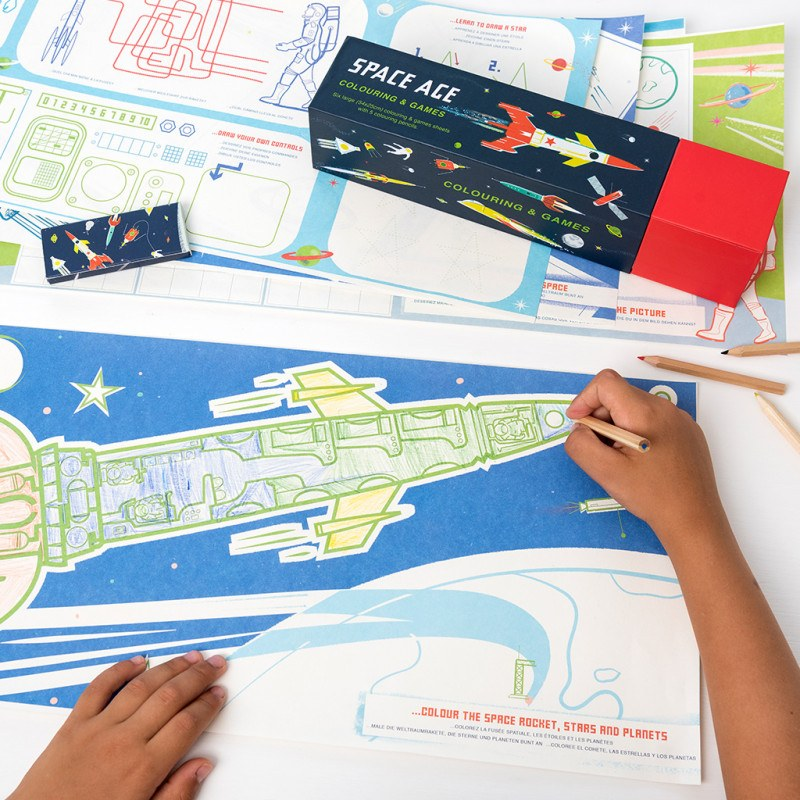 Space Age Activity Sheets