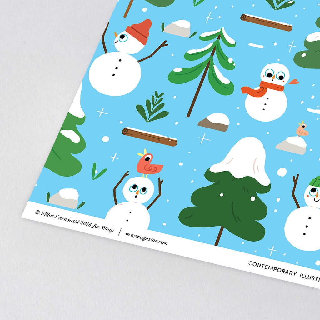 Snowmen Wrapping Paper - ANNUAL STORE