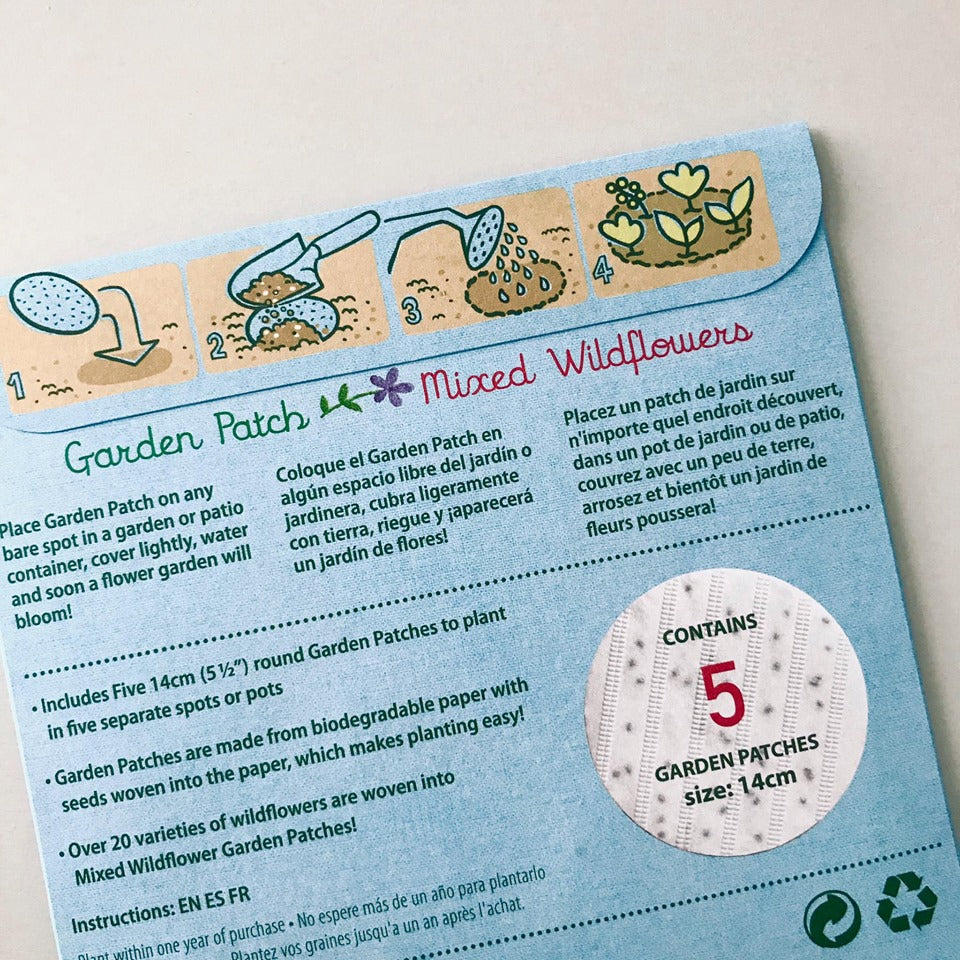 Garden Patch Seed Paper - Wildflowers