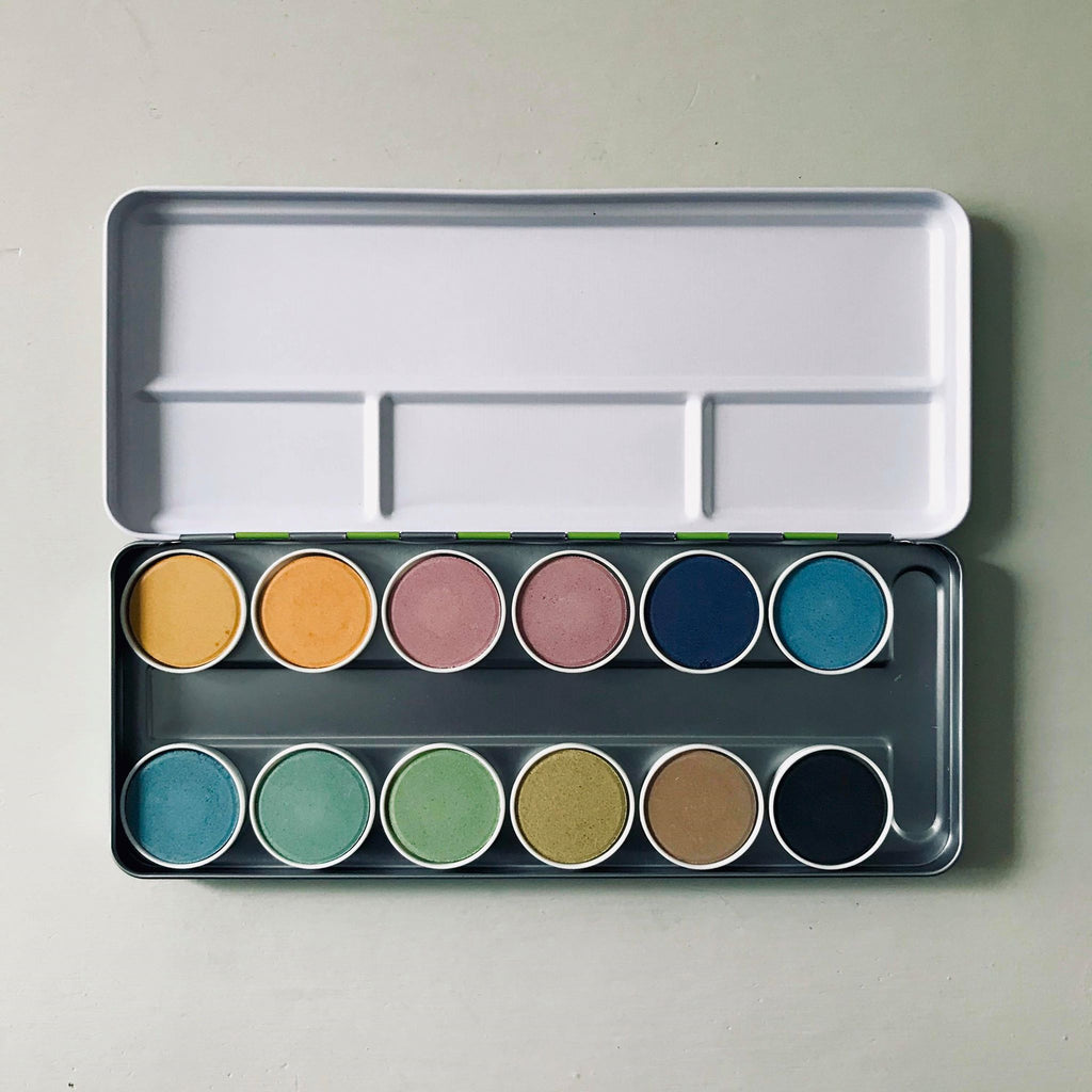 ökoNORM Natural Watercolour Individual Paint Box Pans
