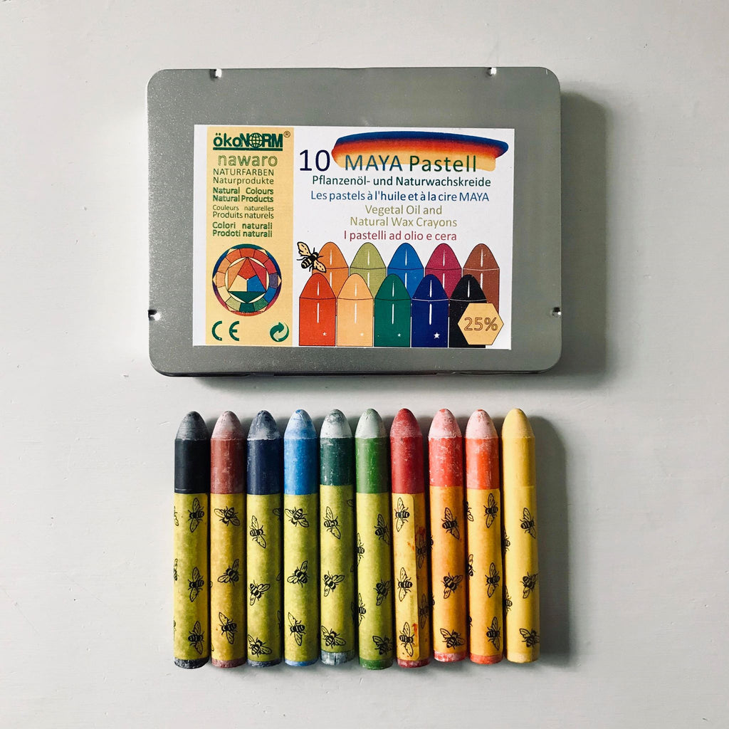 ökoNORM Oil Pastels Tin Box Set - 10 Colours