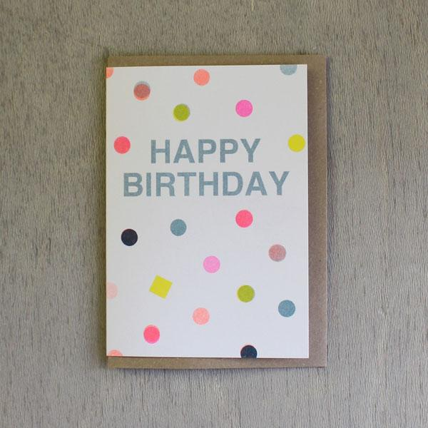 Happy Birthday Multi Dots Card - ANNUAL STORE