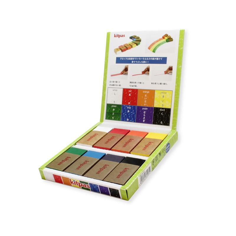 Kitpas - Medium Block Crayons 8 Colours