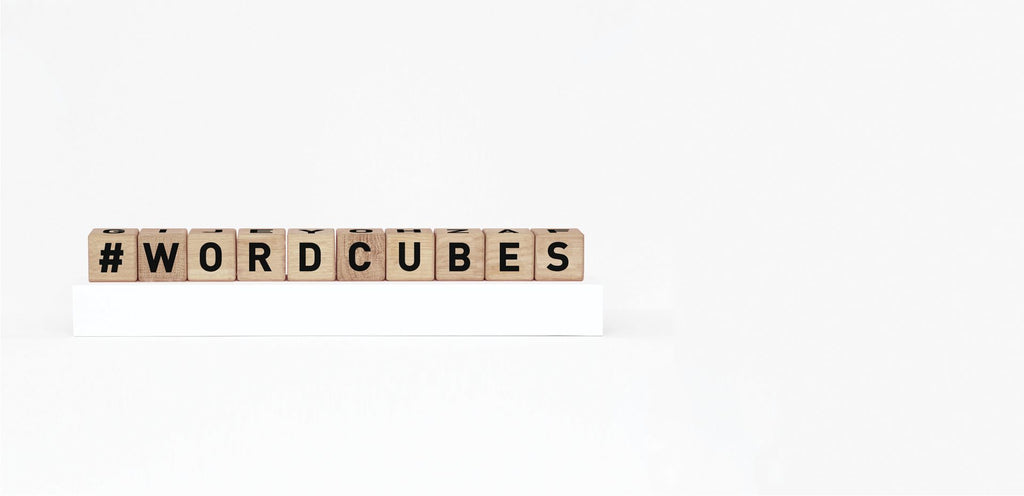 Word Cubes - Black - ANNUAL STORE