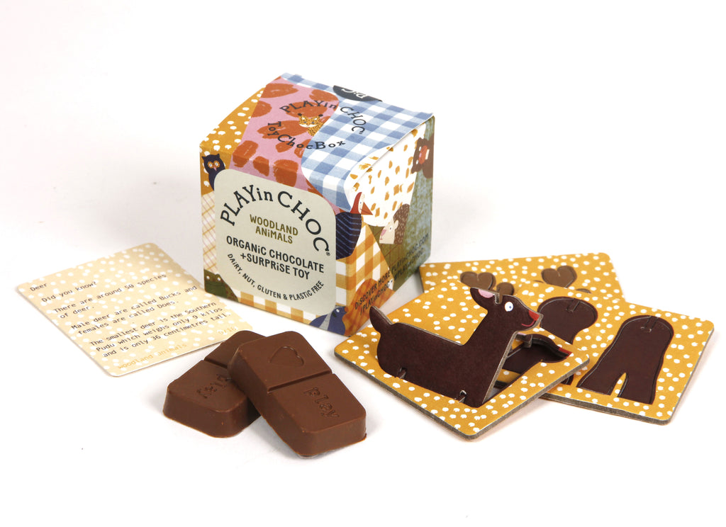 Playin Choc Organic Chocolate + Surprise Toy - Woodland Animals
