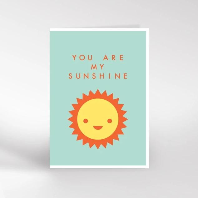 Dicky Bird You Are My Sunshine Card