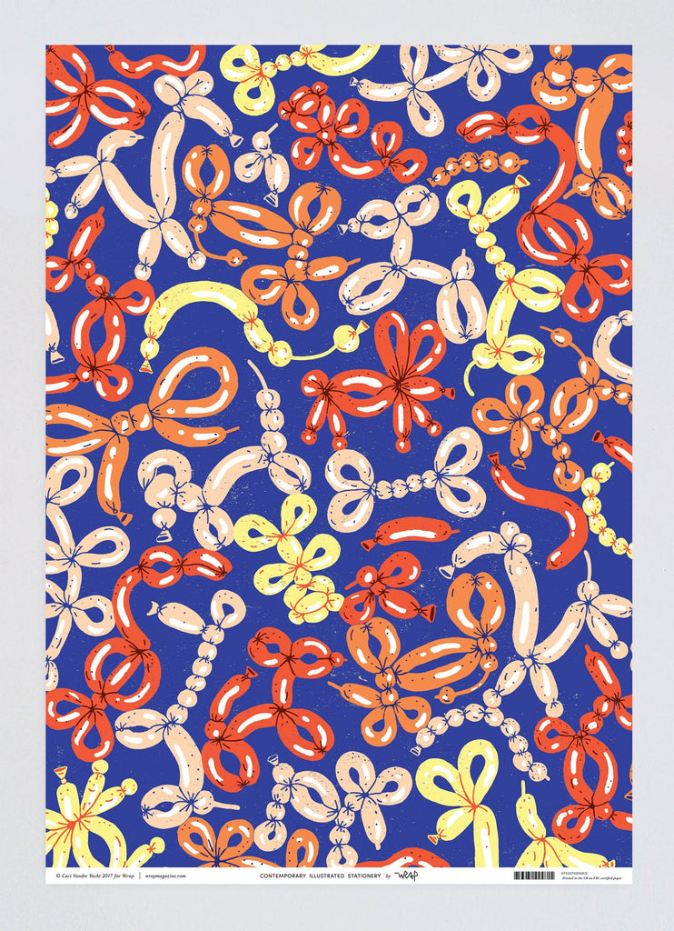 Balloon Animals Wrapping Paper - ANNUAL STORE