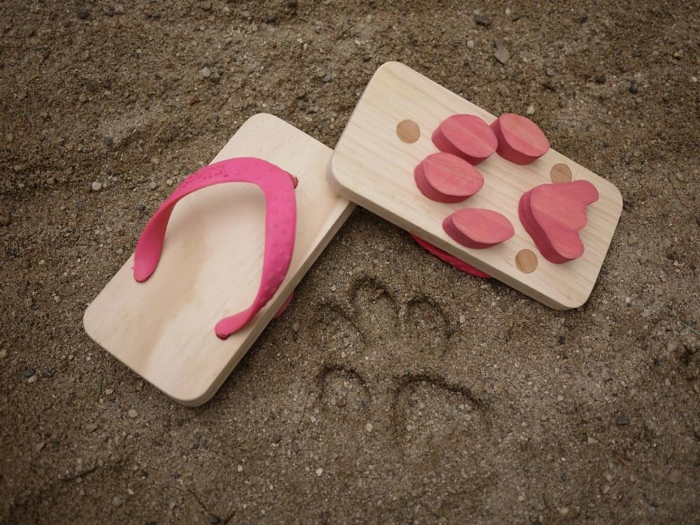 Kiko & GG Ashiato Animal Footprint Flip Flops - Cat - ANNUAL STORE
