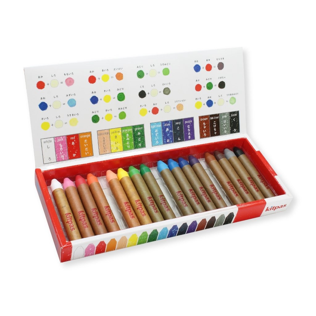 Kitpas - Medium Crayons 16 Colours