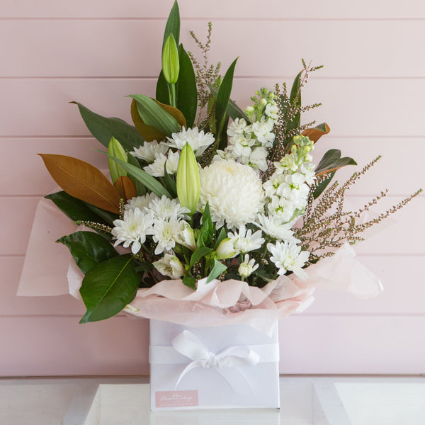 Classic Blooms Box by The Flower Shop Flowers Tatura Florist