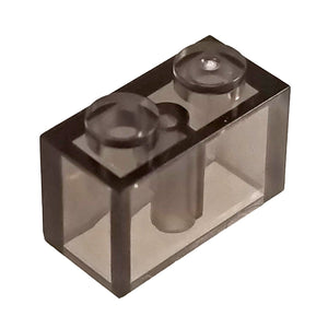 1x2 Brick Clear Black (1 each) - Bricks