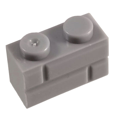 1x2 Masonry Profile Brick GREY (1 each) - Bricks
