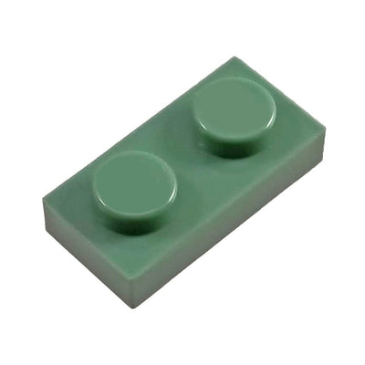 1x2 Plate Sage Green (1 each) - Bricks