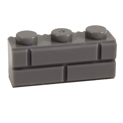1x3 Masonry Profile Brick DARK GREY (1 each) - Bricks