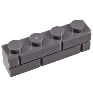 1x4 Masonry Profile Brick DARK GREY (1 each) - Bricks