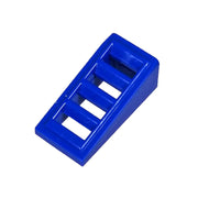 1 x 2 Blue Slope with Grille (1 each) - Bricks