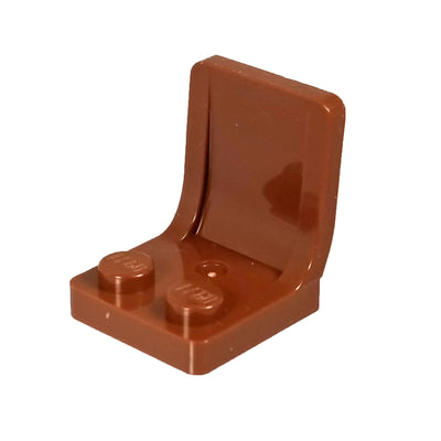 Minifig Color Seat or Chair - Brown - Bricks