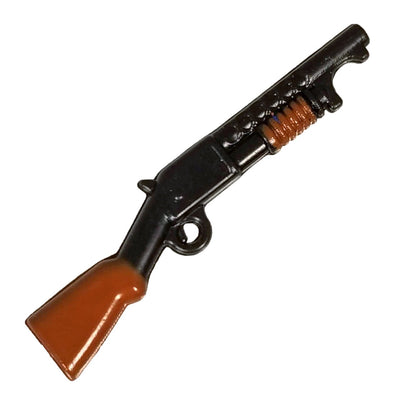 Minifig Colored 12 Gauge Pump Action Shotgun - Shotgun