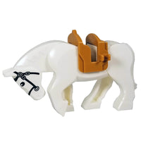 Minifig White Horse with Saddle - Animals