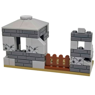 Minifig World War II German Battle Damaged Lookout Post - Dioramas