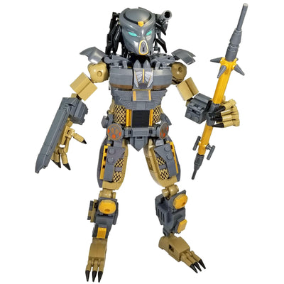 Brick Predator Hunter Figure (556 Pieces) - Buildable Figure