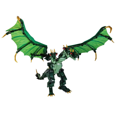 Brick King Ghidorah Figure (672 Pieces) - Buildable Figure