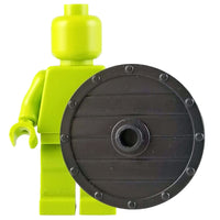 Minifig Black Wooden Viking Shield - Shield