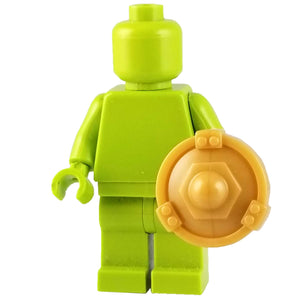 Minifig Gold Buckler Shield - Shield