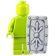 Minifig Grey Roman Shield - Shield