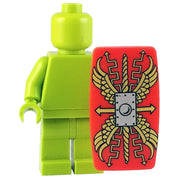 Minifig Red Roman Scutum Shield v1 - Shield