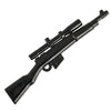 Minifig Sniper Rifle with Scope Black - Rifle