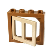 COBI Window with One Opening Shutter - Bricks