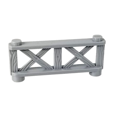 Cobi Grey Brick Fence with Wooden Texture 1x6x3 - Dioramas