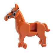 Minifig Pack Horse - Reddish Brown - Animals