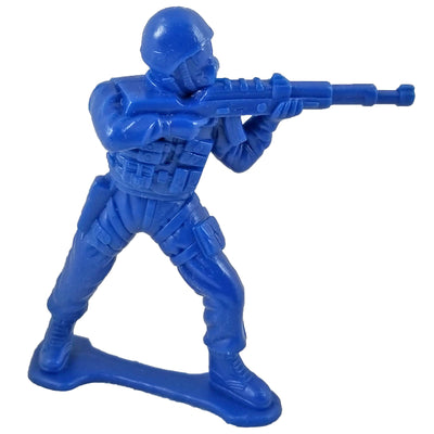 Large SWAT Officer with Rifle - Blue - Collectable