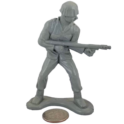 Large Army Soldier Flamethrower - Grey - Collectable