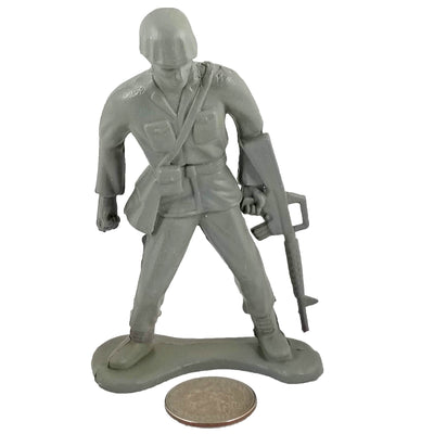 Large Army Soldier Standing with M-16 - Grey - Collectable