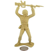 Large Army Soldier Bayonet Charge - Tan - Collectable