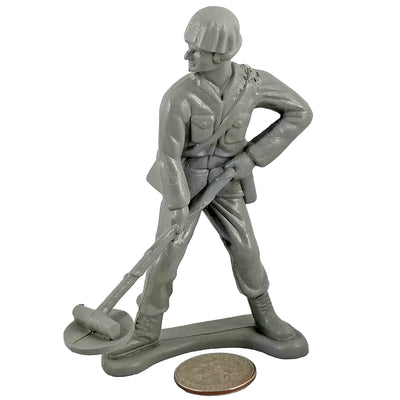 Large Army Soldier Minesweeper - Grey - Collectable