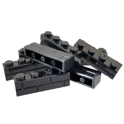 100 Brick Pack 1x4 Masonry Profile Brick BLACK - Bricks