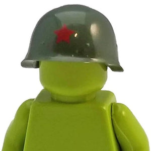 Minifig World War II Soviet Helmet Green - Headgear