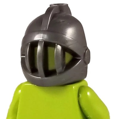 Minifig Fixed Face Grille Knight Helmet - Headgear