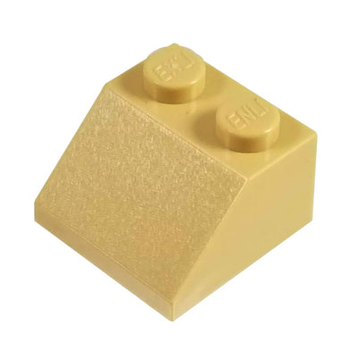 2x2 /45 Degree Roof Tile Bricks TAN (1 each) - Bricks