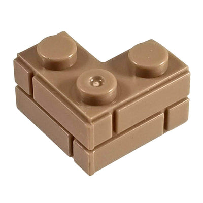 2x2 Corner Masonry Profile Brick Brown (1 each) - Bricks