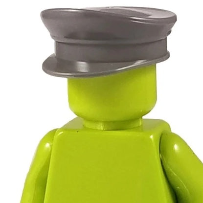 Minifig World War II Officer Visor Crusher Cap Grey - Headgear