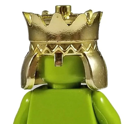 Minifig Gold Crown - Headgear