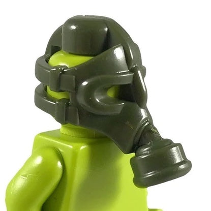 Minifig Battlefield WW1 Green Gas Mask - Headgear