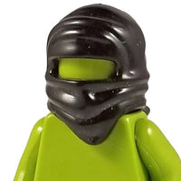 Minifig Assassin Mask with Weapons Clip Black - Headgear