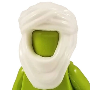 Minifig Keffiyeh Head Scarf White - Headgear
